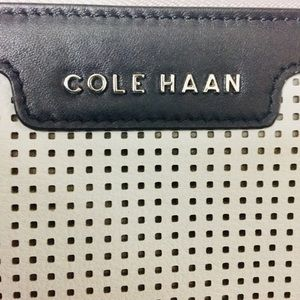 Cole Haan white and black pouch